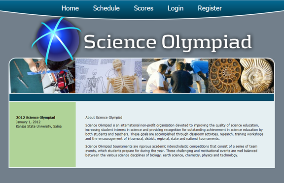 Kansas Science Olympiad website screenshot