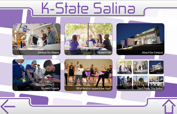 K-State Salina touchscreen kiosk screenshot